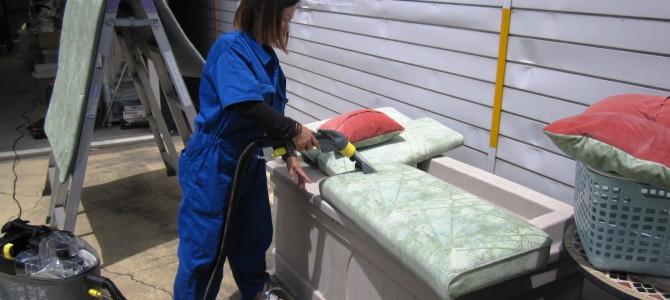 キレイに見えて実は‼ベッドマット水洗い洗浄