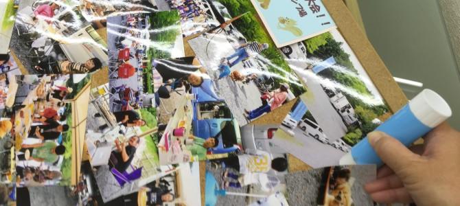キャンプ大会の写真パネル張り替えました