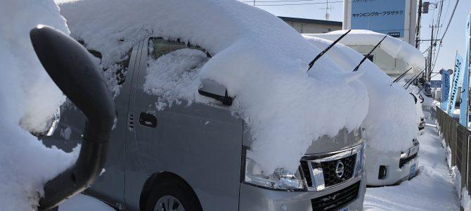 大雪の後の大仕事